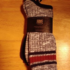 NEW MENS FRYE SOCKS 1 PACK = 2 PAIR OF SOCKS